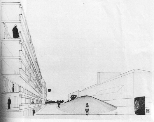 Plan for Robin Hood Gardens by Alison and Peter Smithson