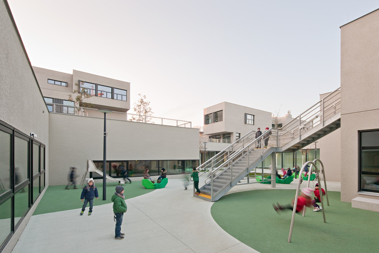 Bildungscampus Sonnwendviertel / PPAG architects,  City of children. Image © Hertha Hurnaus