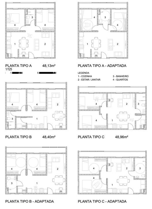 Planta da unidade habitacional. Image Cortesia de Estúdio 41