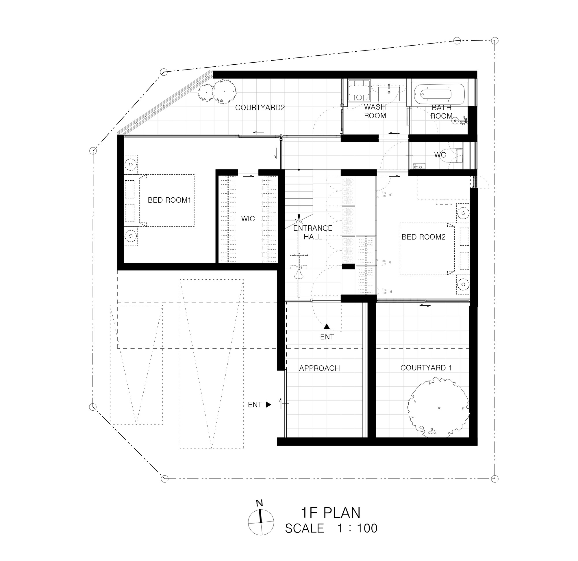 Gallery of wrap house apollo architects associates 14 for Arched cabin floor plans