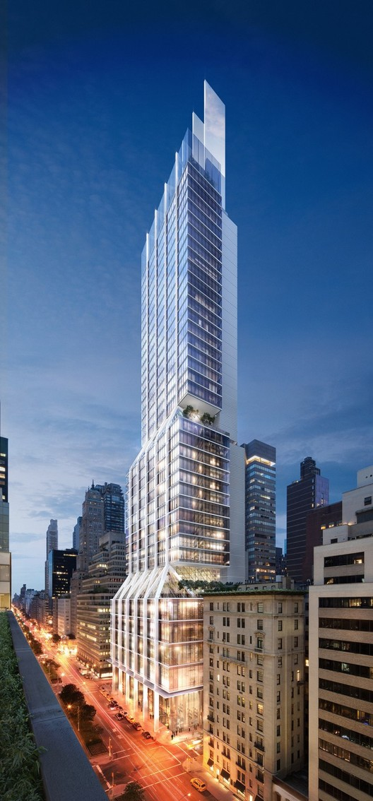 Foster + Partners Break Ground on 425 Park Avenue, 425 Park Avenue, Facing NE on Park Avenue. Image © DBOX for Foster + Partners