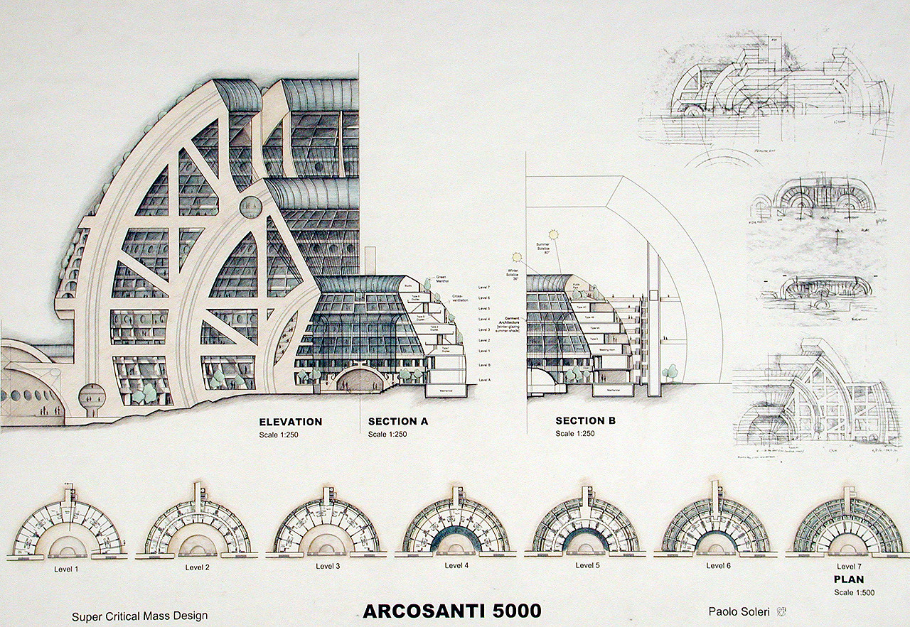 Gallery of spotlight paolo soleri 2 for Outils architecte