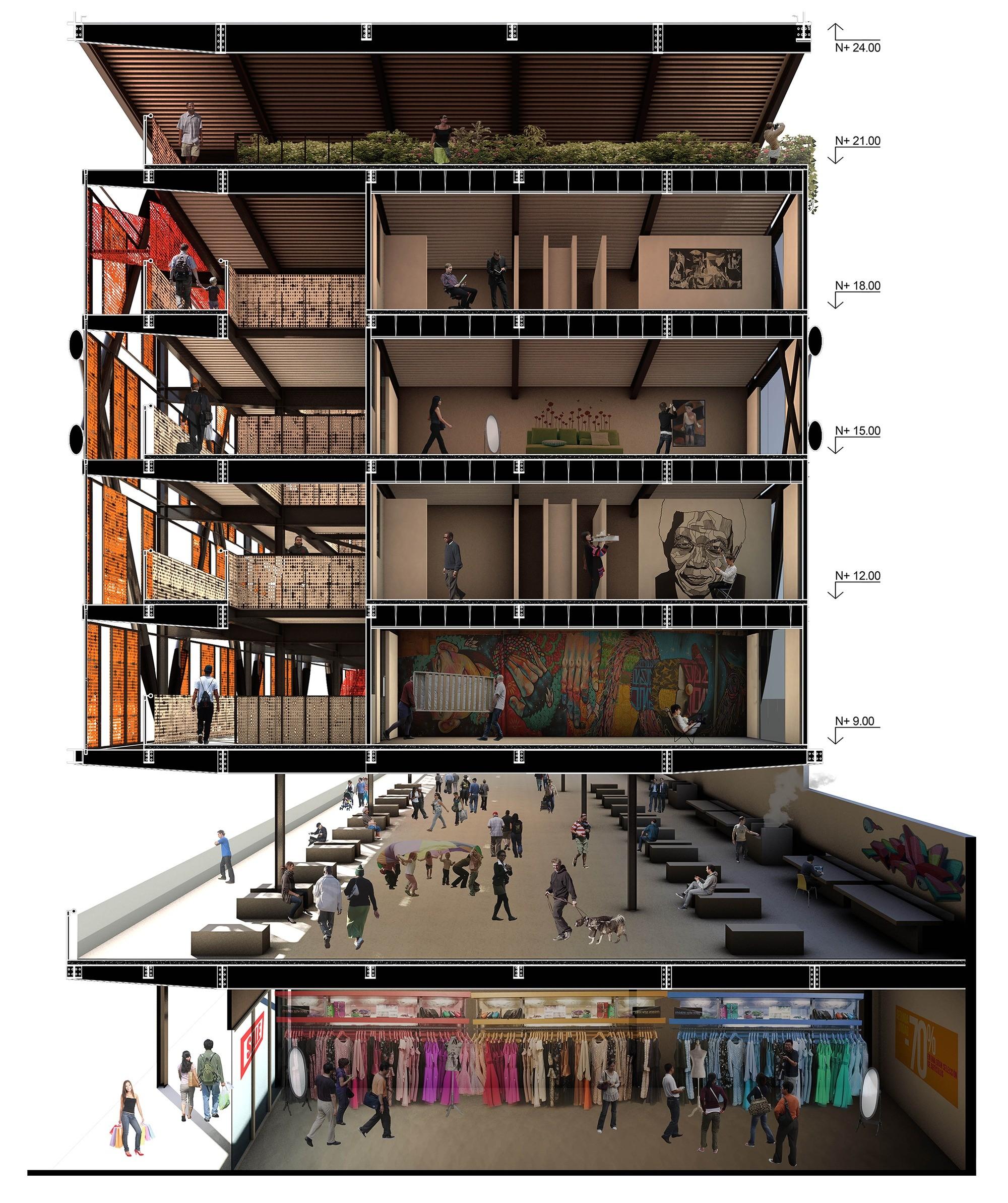 Archivo cortes fugados plataforma arquitectura for Vivienda arquitectura