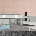 Primer Lugar en concurso de piscina municipal Juan Pablo II / Santiago, Chile