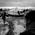 Unsafe Living Conditions in Refugee Camp. Image Courtesy of Emergency Floor