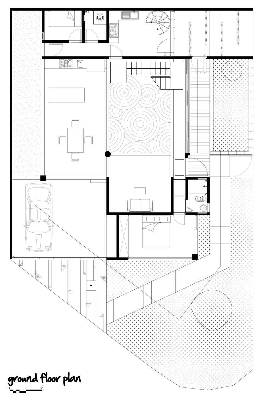 Breathing House,Ground Floor Plan