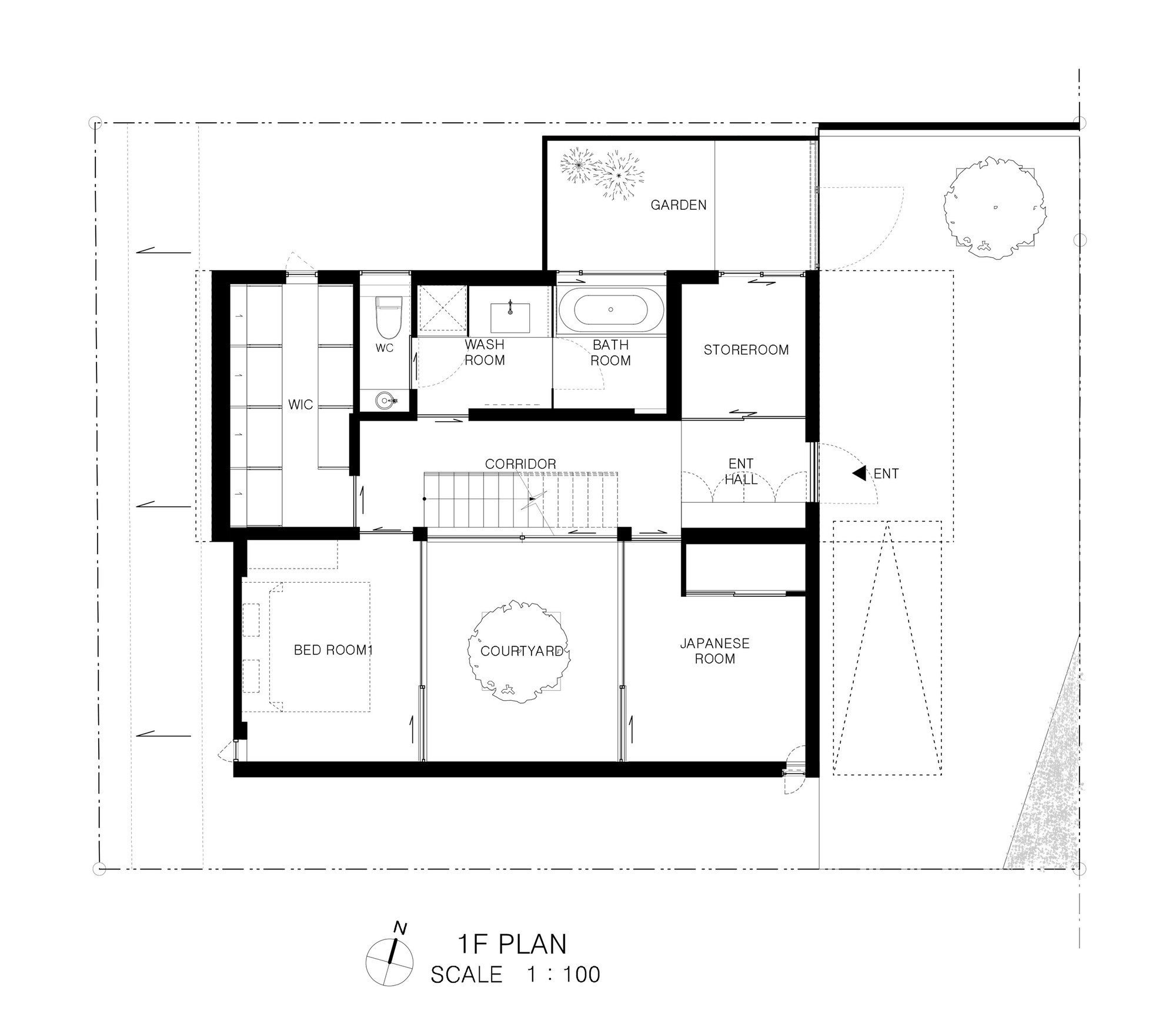 Patio House / APOLLO Architects U0026 Associates. Floor Plan