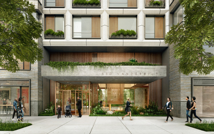 COOKFOX Architects' 550 Vanderbilt Condo Opens for Sale, Street View. Image Courtesy of VUW Studio