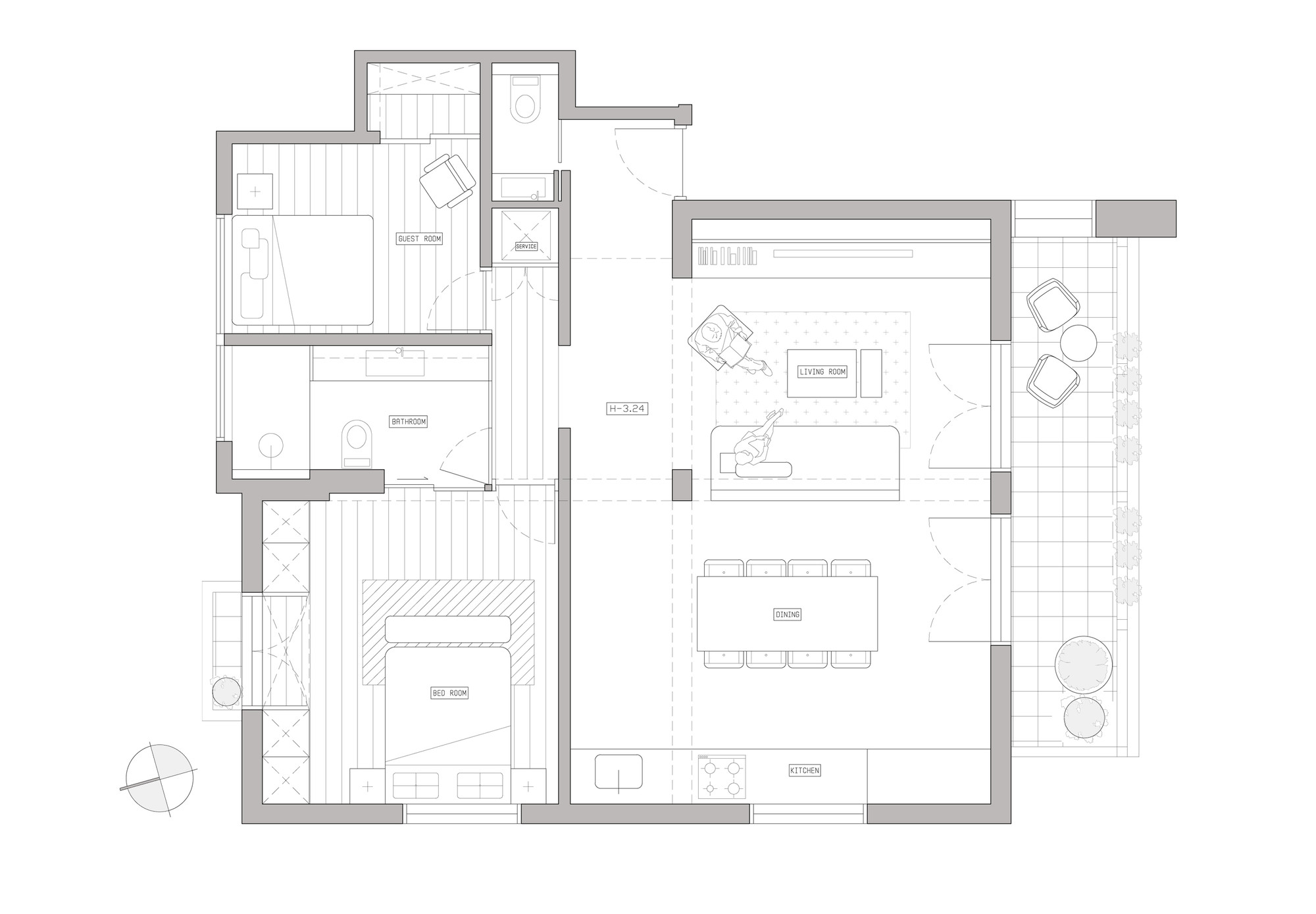 Bauhaus Apartment Redesign Rust Architects Floor Plan
