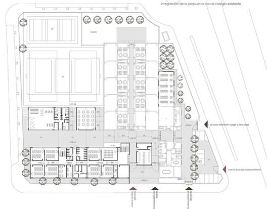 """Floor Plan  Primary School """"Los Cercadillos"""" / ae³arquitectura 4 emplazamiento"""