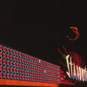 Colour-changing neon sign on the façade of the Stardust Hotel and Casino, Las Vegas, 1969. Image © University of Nevada, Las Vegas University Libraries. Young Electric Sign Company (YESCO) Collection.