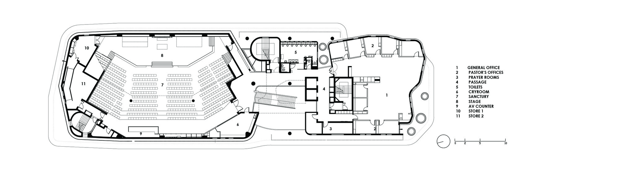 Christ Methodist Church Second Floor Plan