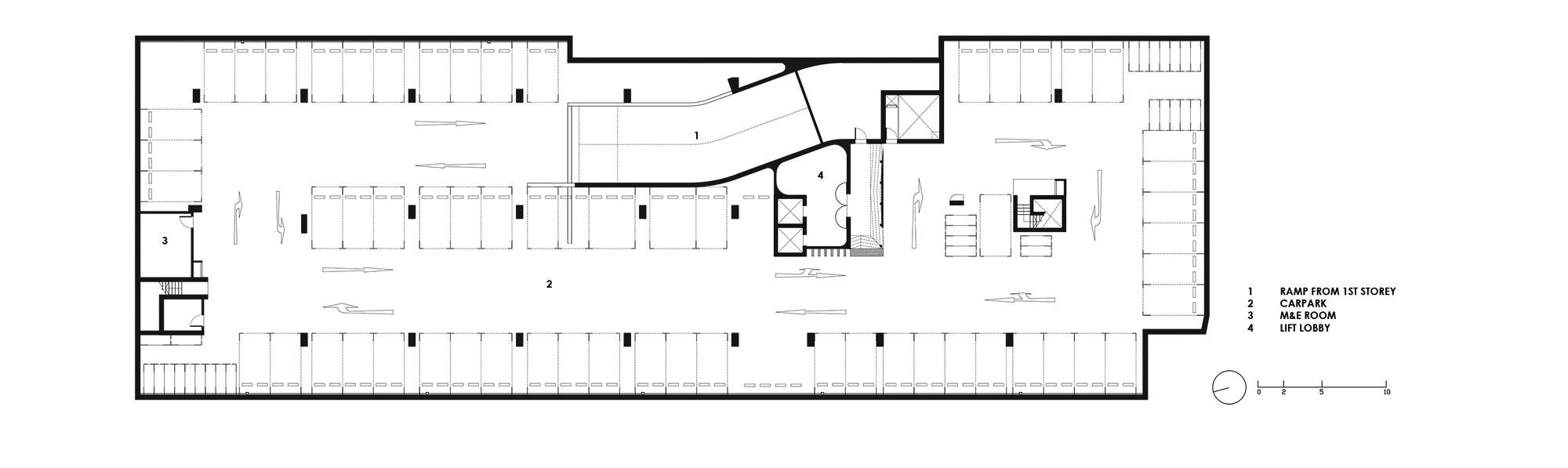 Galeria de igreja metodista k2ld architects 9 for House plan with basement parking