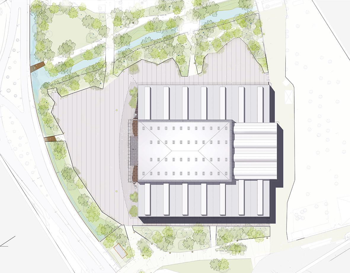 gallery of reconstruction of exhibition center hall 2 jean reconstruction of exhibition center hall 2 floor plan