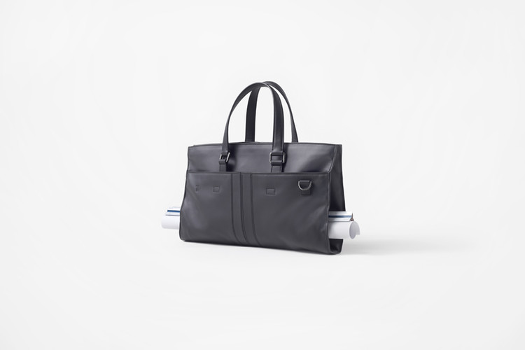 nendo Designs Leather Bag for Architects, via nendo