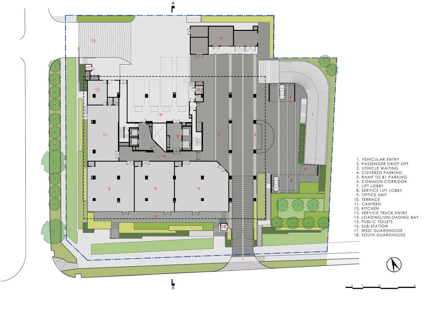 100pp office buildingground floor plan