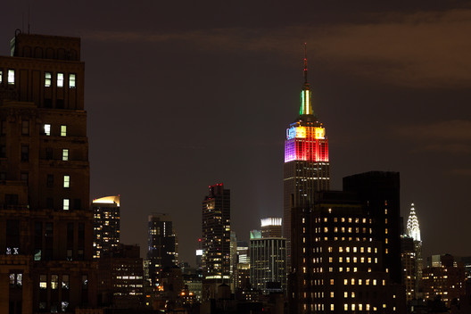 The Empire State Building for New York's 2011 Pride Parade. Image © Flickr CC user ccho  Beacons of Pride: #LoveWins in These Illuminated Buildings 5875789668 37574cdf12 o