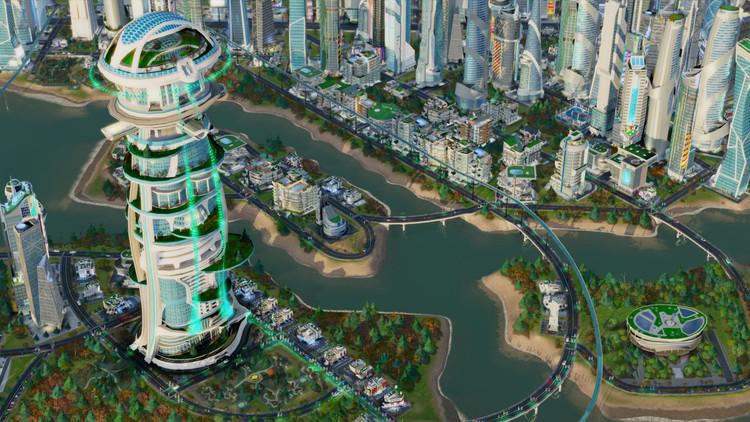 "Arquitectura del pack de expansión de SimCity ""Cities of Tomorrow"". Imagen © simcity.com"