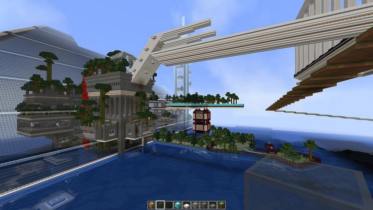 Arquitectura construida por un usuario en Minecraft. Imagen © Flickr CC user wcm1111