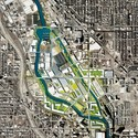 Rendered plan of the Goose Island proposal. Image Courtesy of PORT