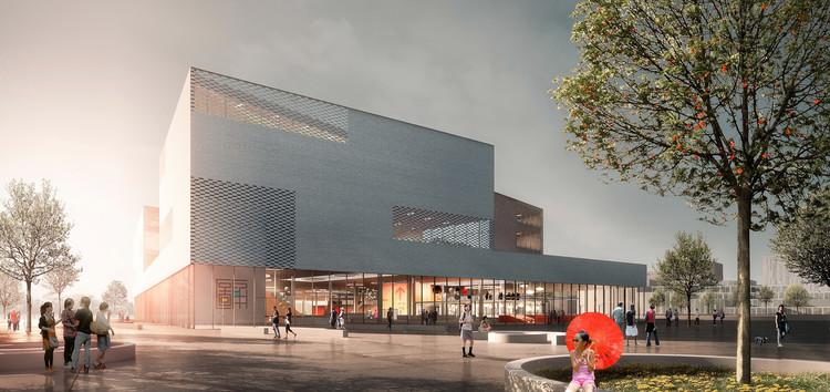 schmidt hammer lassen inicia construcción de la Biblioteca Central de Ningbo, © schmidt hammer lassen architects