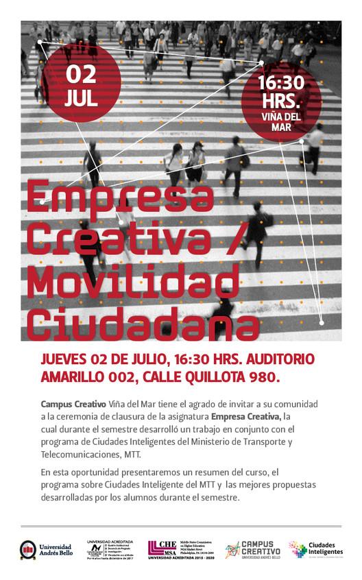 Empresas Creativas: presentación de propuestas sobre movilidad ciudadana / Viña del Mar