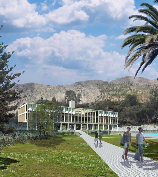 LLONAZAMORA, segundo lugar en concurso de nuevo edificio del Rinconada Country Club / Perú, Cortesía de LLONAZAMORA