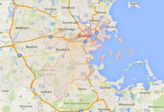 Google's Map of Boston. Screenshot via Google Maps
