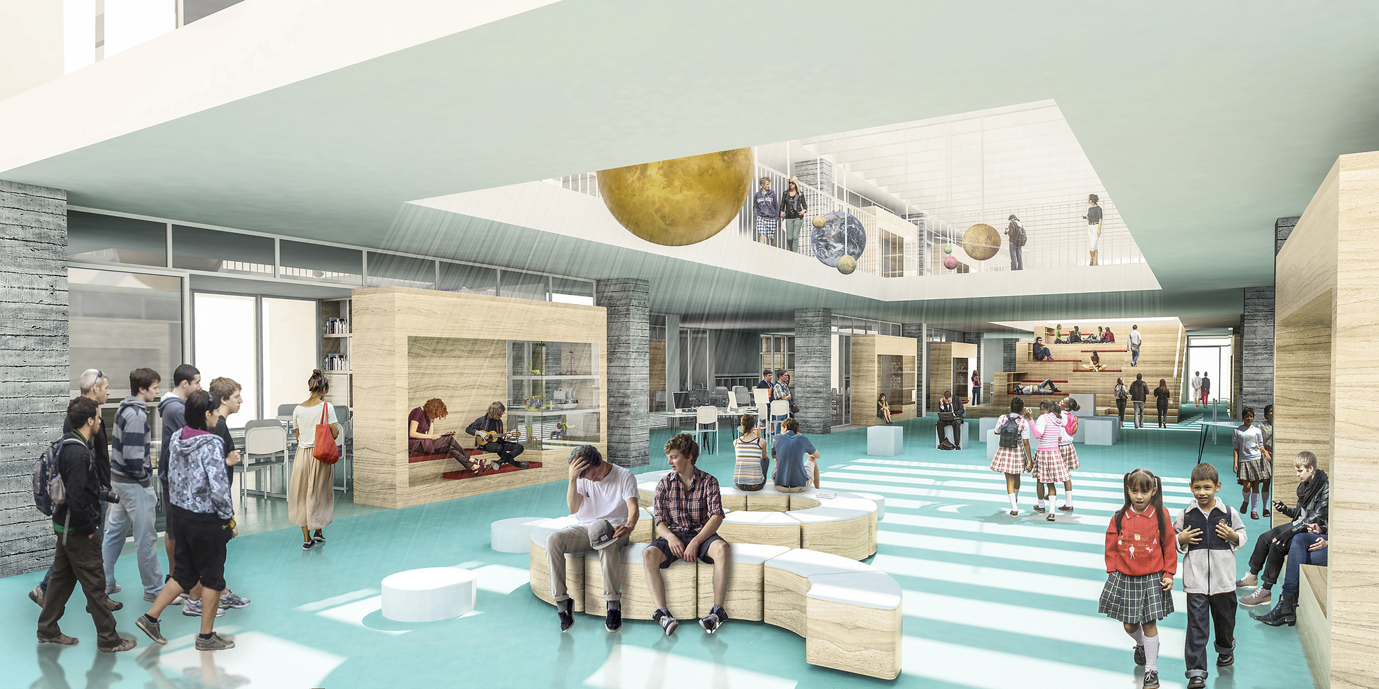 Fp arquitectura cuarto lugar en concurso ambientes de for Plantas de colegios arquitectura