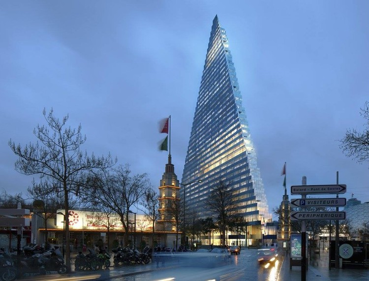 "Paris Approves Plans to Build Herzog & de Meuron's ""Triangle Tower"", © Herzog & de Meuron"