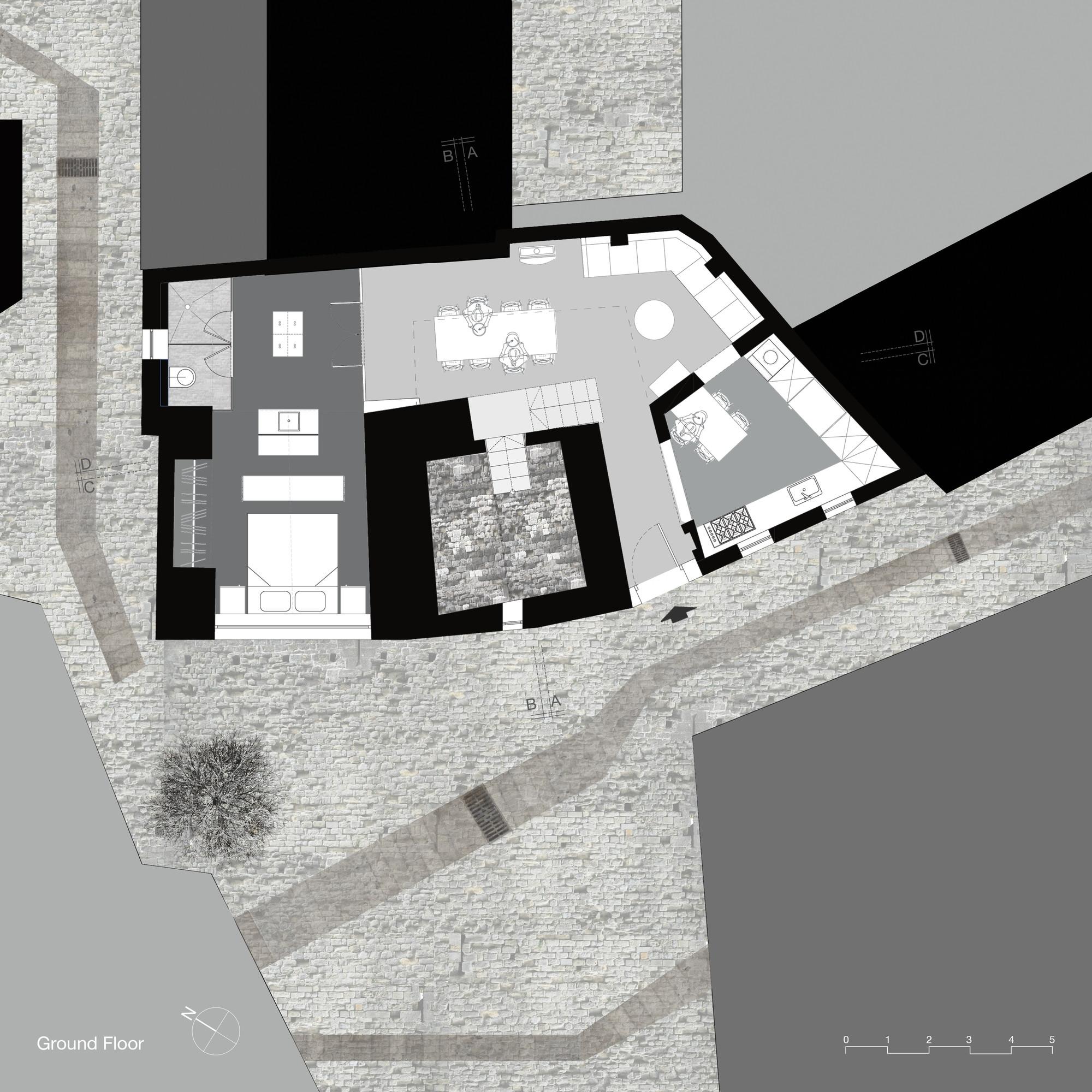 Galeria de casa vertical de pedra henkin shavit for Floor 5 swordburst 2
