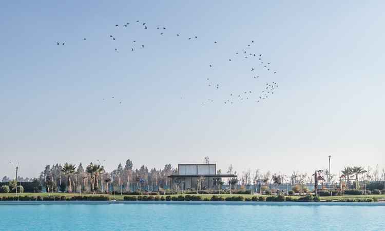 Sala de ventas Laguna Condores / Fones Arquitectos, © Antonio Aros Dominguez