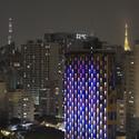 ESTUDIO GUTO REQUENA CREATES INTERACTIVE LIGHT FAçADE FOR SãO PAULO HOTEL