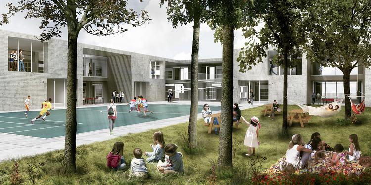 Cuarto lugar: patio central. Image Cortesía de FP Arquitectura