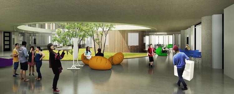 Segundo lugar: patio interior. Image Cortesía de STUDIOGRAM