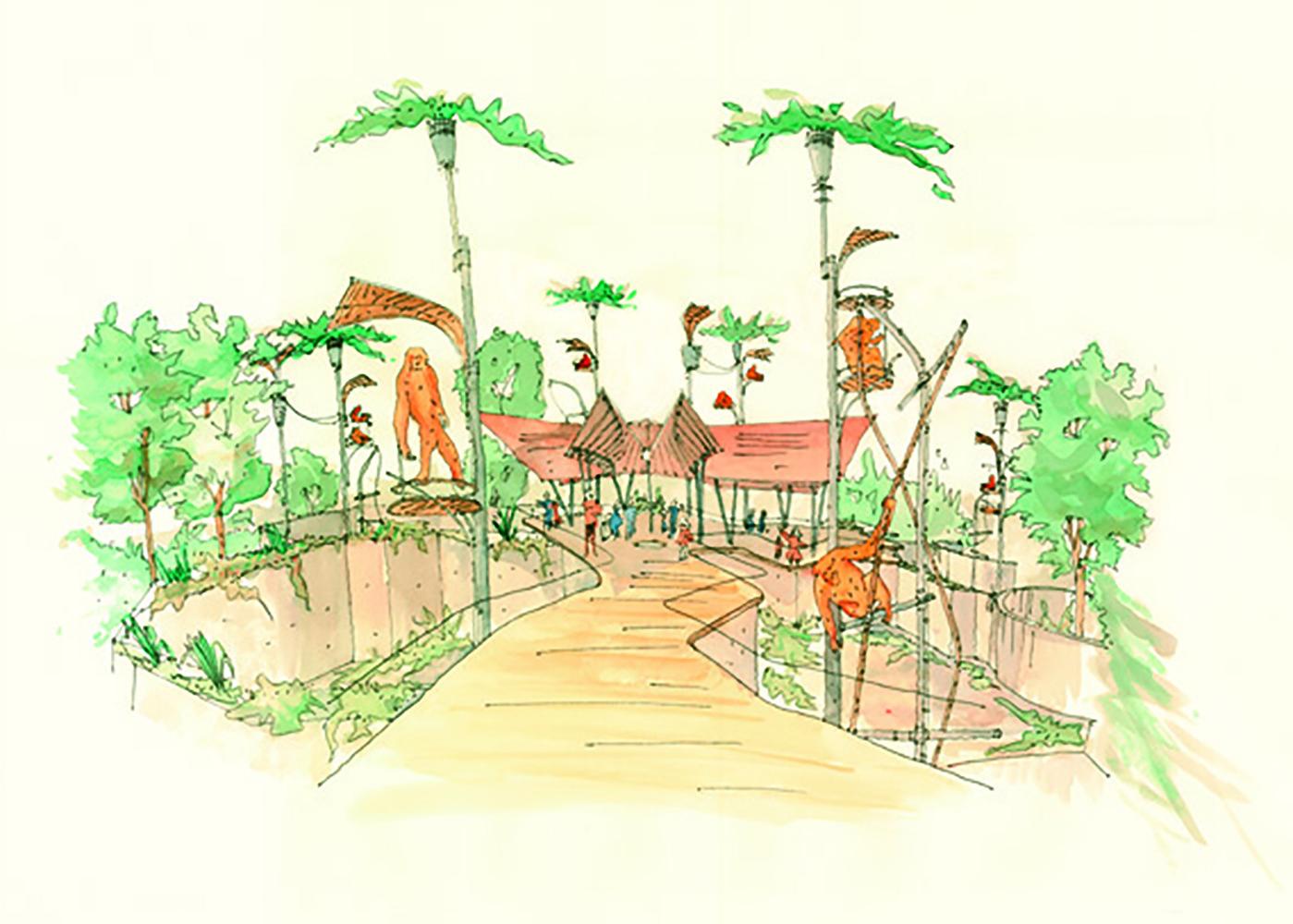 Gallery Of Perth Zoo Orang Utan Exhibit Iredale Pedersen Hook