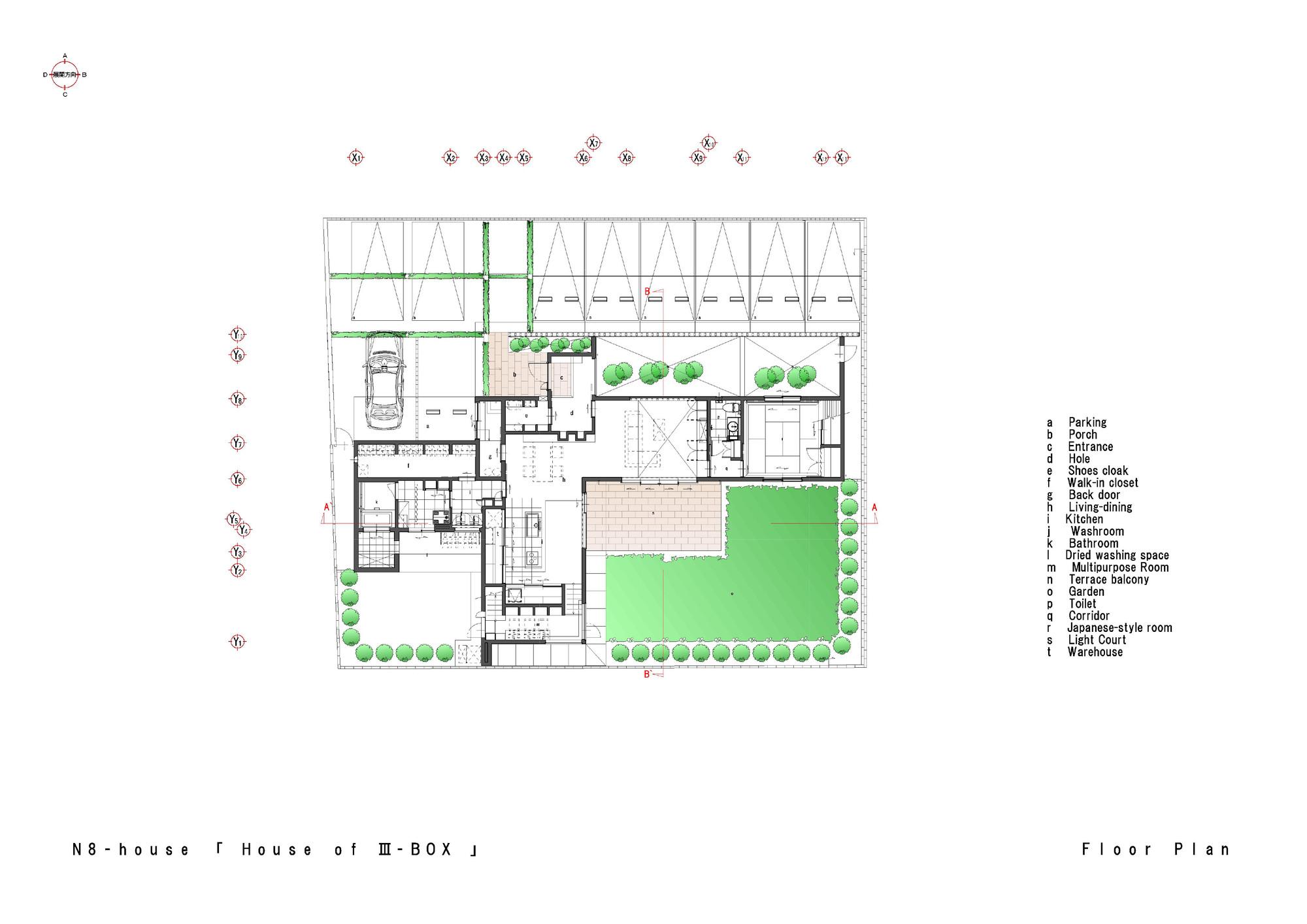 Galer a de casa n8 masahiko sato 30 for Copying house plans