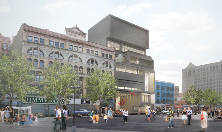 David Adjaye Unveils Plans for New Studio Museum in Harlem, via New York Times / Adjaye Associates