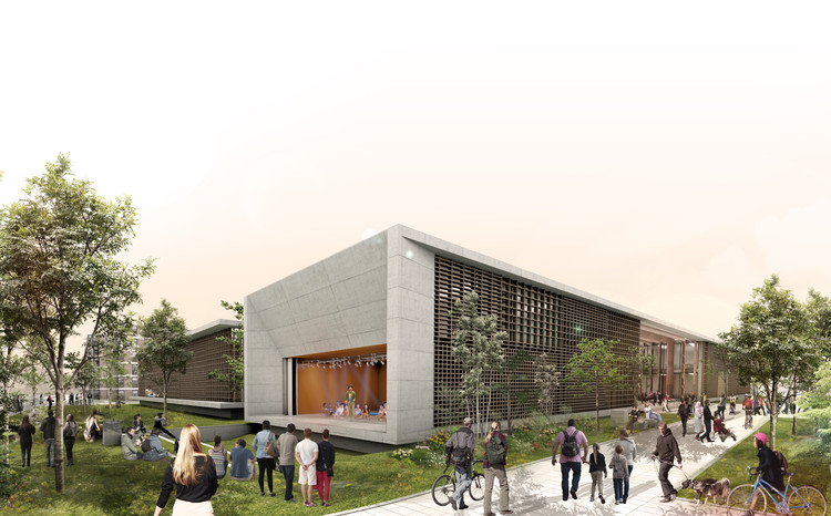 Primer lugar: fachada principal. Image Cortesía de Colectivo 720