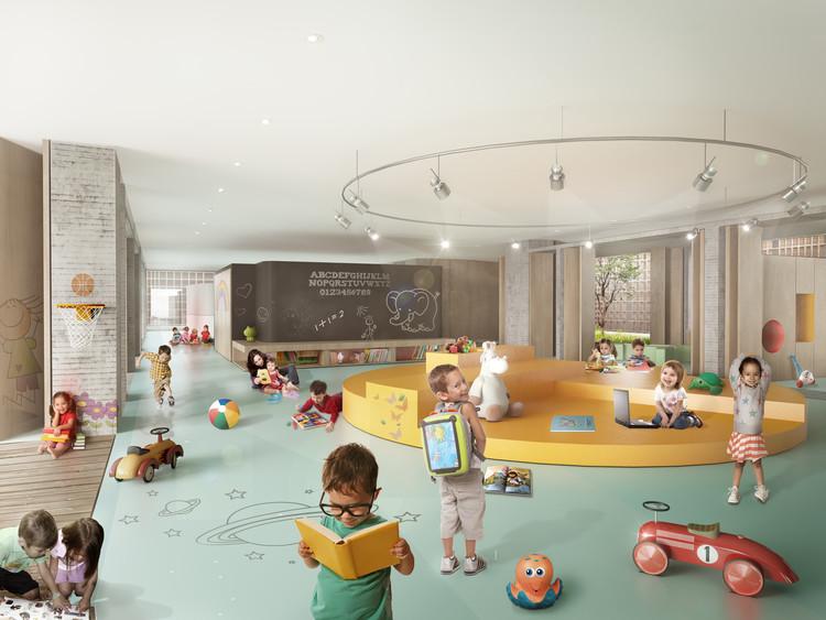 Primer lugar: espacio de educación primaria. Image Cortesía de Colectivo 720