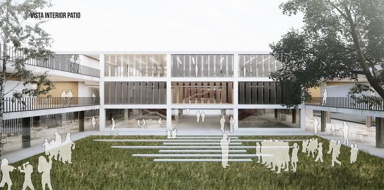 Tercer lugar: patio. Image Cortesía de EMS Arquitectos