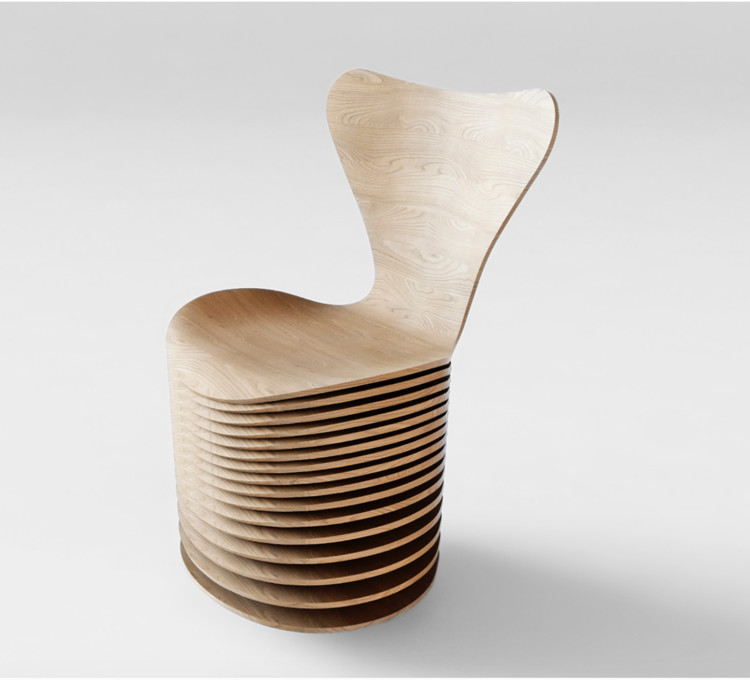BIG, Jean Nouvel, and 5 Others Reinterpret Arne Jacobsen's Series 7 Chair, Bjarke Ingels Group. Image via www.fritzhansen.com