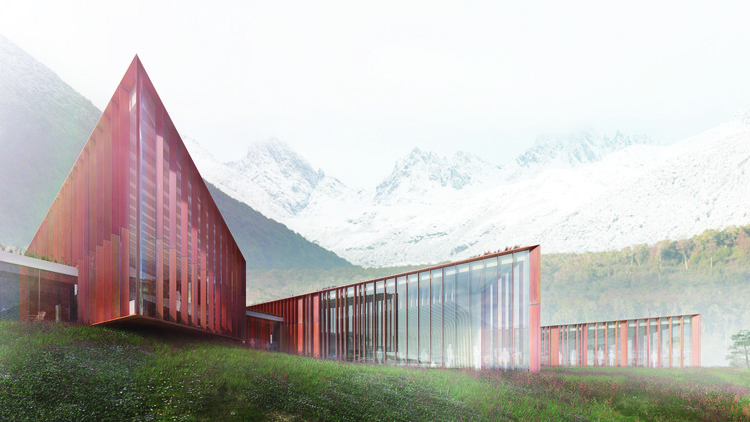 Ennead Teams Up with Chilean Architects to Design Cape Horn Sub-Antarctic Center, Courtesy of Ennead Architects