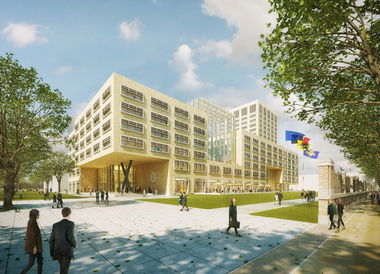 Neutelings Riedijk Architects Begins Construction on Largest Passive Office Building in Belgium, Courtesy of Neutelings Riedijk Architects
