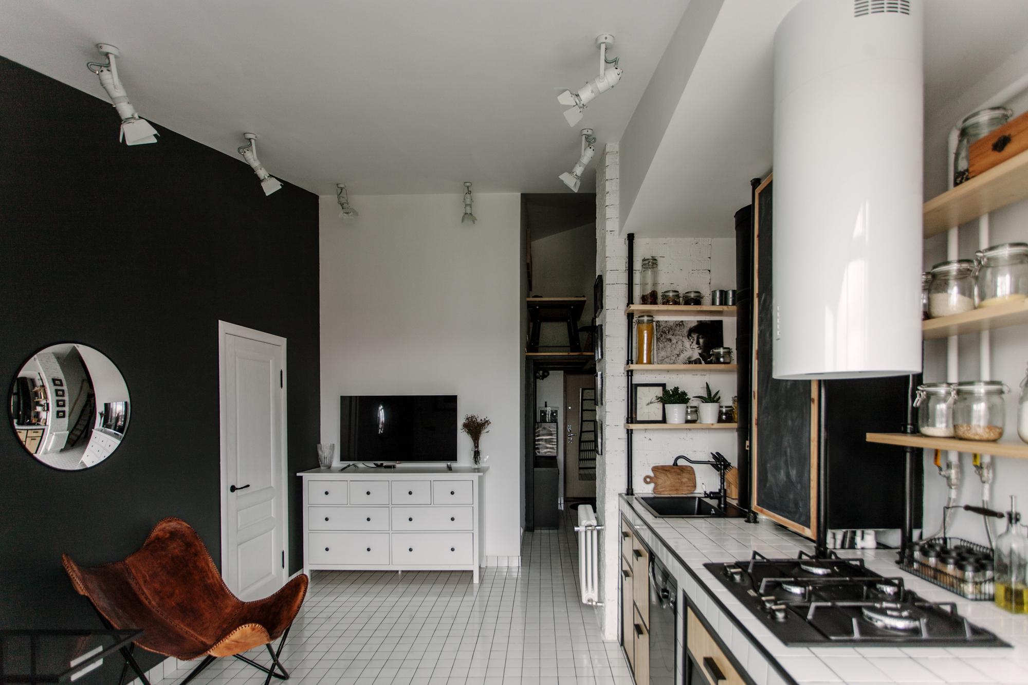 Gallery of attic for an architect buro5 13 for Departamentos decorados en blanco