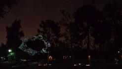 Confabulación Pajarística, videomapping sobre los árboles del Parque Quinta Normal por Delight Lab