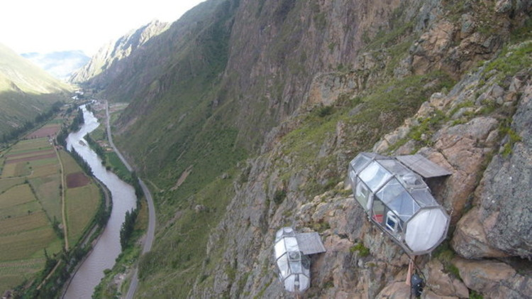 """Hang Out"" In These Extraordinary Peruvian Sky Pods, via Huffington Post"