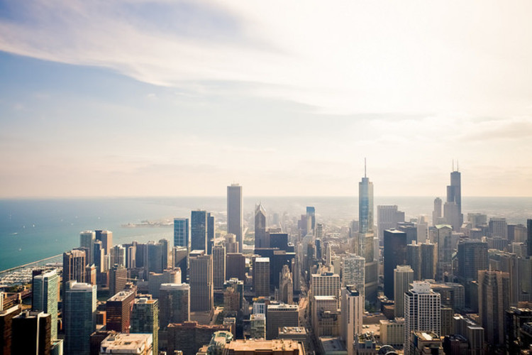 CAF Launches Open Competition for New Chicago Headquarters, Chicago skyline. Image © Flickr CC User Derek Key