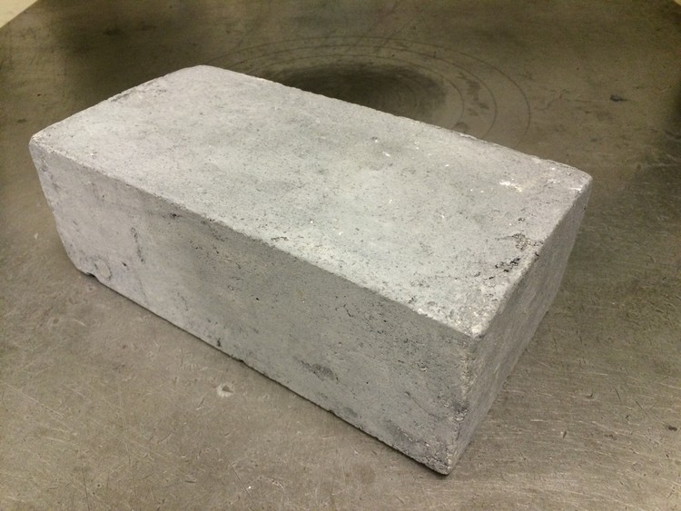 This New Brick by MIT-Researchers Uses Little Energy and Helps Deplete Landfills, The Eco-BLAC Brick. Image Courtesy of MIT Tata Center