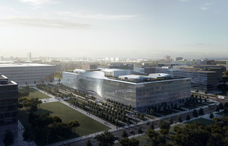 "Construction Underway on Aedas' ""Infinite"" Design for New Sina Headquarters in Beijing, Courtesy of Aedas"